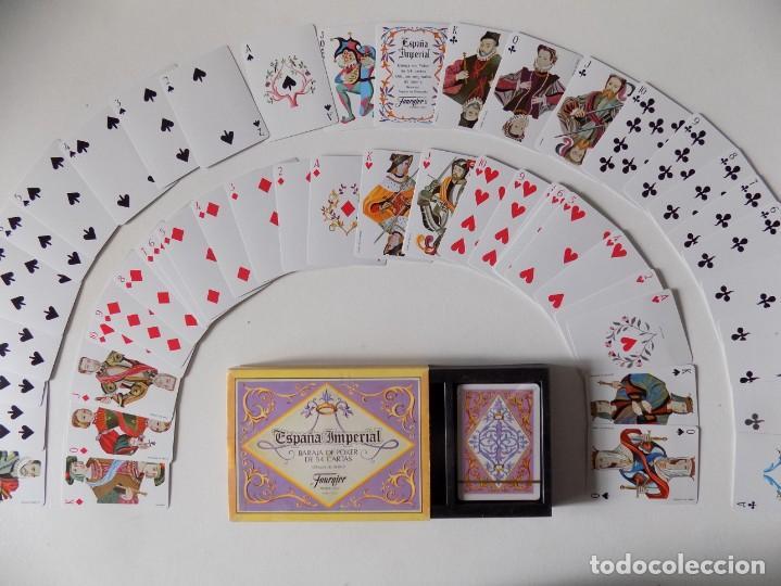 LIBRERIA GHOTICA. 2 BARAJAS ESPAÑA IMPERIAL POKER DE 54 CARTAS. 1980. CON ESTUCHE. (Juguetes y Juegos - Cartas y Naipes - Otras Barajas)