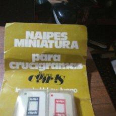 Barajas de cartas: NAIPES MINIATURA COMAS PARA CRUCIGRAMAS. Lote 166124317