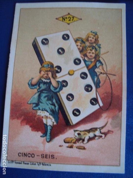 Barajas de cartas: (BA-190500)FABRICA DE CHOCOLATES EL BARCO - VALENCIA - DOMINO - 28 NAIPES - Foto 34 - 166540886