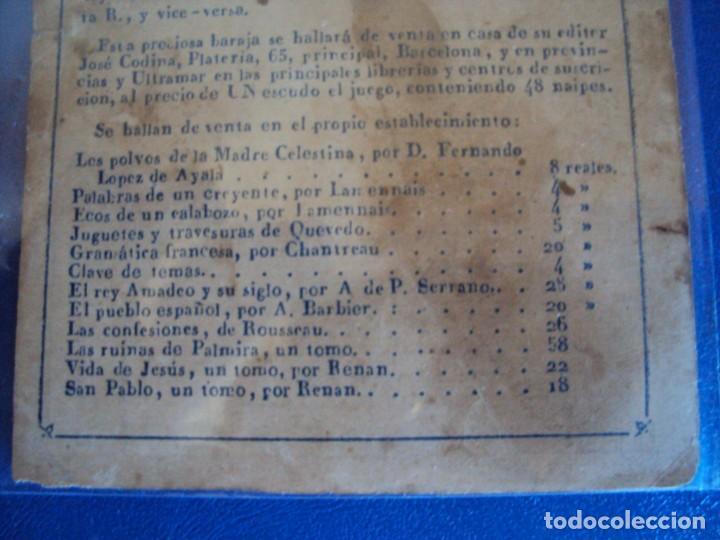 Barajas de cartas: (BA-190501)BARAJA DE LOS ENAMORADOS. DEDICADA AL PRESTIDIGITADOR CATALÁN D. FRUCTUOSO CANONJE XIX - Foto 4 - 166542314
