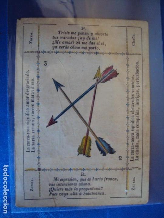 Barajas de cartas: (BA-190501)BARAJA DE LOS ENAMORADOS. DEDICADA AL PRESTIDIGITADOR CATALÁN D. FRUCTUOSO CANONJE XIX - Foto 9 - 166542314