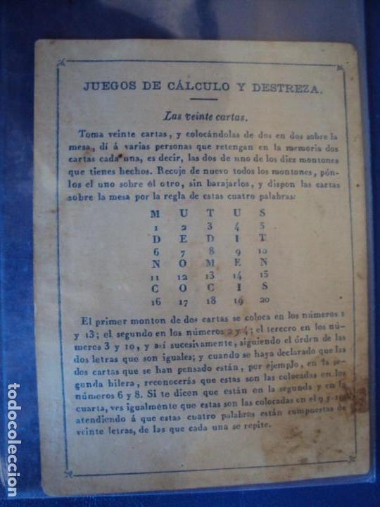 Barajas de cartas: (BA-190501)BARAJA DE LOS ENAMORADOS. DEDICADA AL PRESTIDIGITADOR CATALÁN D. FRUCTUOSO CANONJE XIX - Foto 12 - 166542314