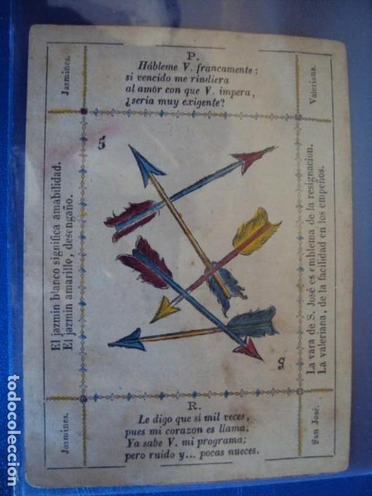 Barajas de cartas: (BA-190501)BARAJA DE LOS ENAMORADOS. DEDICADA AL PRESTIDIGITADOR CATALÁN D. FRUCTUOSO CANONJE XIX - Foto 13 - 166542314