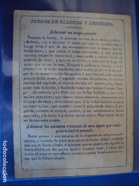 Barajas de cartas: (BA-190501)BARAJA DE LOS ENAMORADOS. DEDICADA AL PRESTIDIGITADOR CATALÁN D. FRUCTUOSO CANONJE XIX - Foto 18 - 166542314