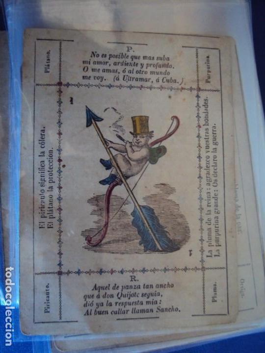 (BA-190501)BARAJA DE LOS ENAMORADOS. DEDICADA AL PRESTIDIGITADOR CATALÁN D. FRUCTUOSO CANONJE XIX (Juguetes y Juegos - Cartas y Naipes - Otras Barajas)