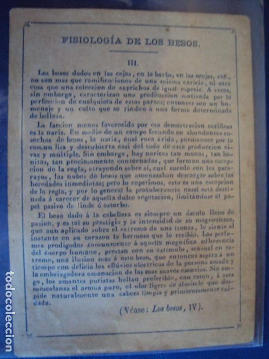 Barajas de cartas: (BA-190501)BARAJA DE LOS ENAMORADOS. DEDICADA AL PRESTIDIGITADOR CATALÁN D. FRUCTUOSO CANONJE XIX - Foto 20 - 166542314