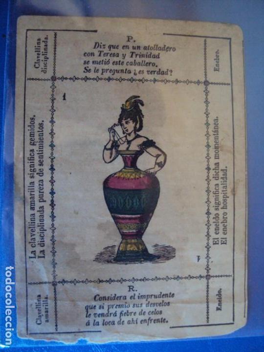 Barajas de cartas: (BA-190501)BARAJA DE LOS ENAMORADOS. DEDICADA AL PRESTIDIGITADOR CATALÁN D. FRUCTUOSO CANONJE XIX - Foto 29 - 166542314