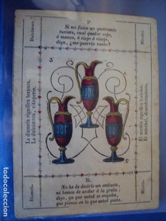 Barajas de cartas: (BA-190501)BARAJA DE LOS ENAMORADOS. DEDICADA AL PRESTIDIGITADOR CATALÁN D. FRUCTUOSO CANONJE XIX - Foto 33 - 166542314