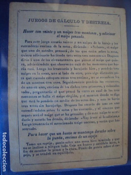 Barajas de cartas: (BA-190501)BARAJA DE LOS ENAMORADOS. DEDICADA AL PRESTIDIGITADOR CATALÁN D. FRUCTUOSO CANONJE XIX - Foto 34 - 166542314