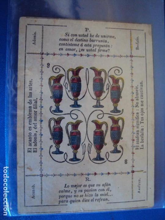 Barajas de cartas: (BA-190501)BARAJA DE LOS ENAMORADOS. DEDICADA AL PRESTIDIGITADOR CATALÁN D. FRUCTUOSO CANONJE XIX - Foto 41 - 166542314