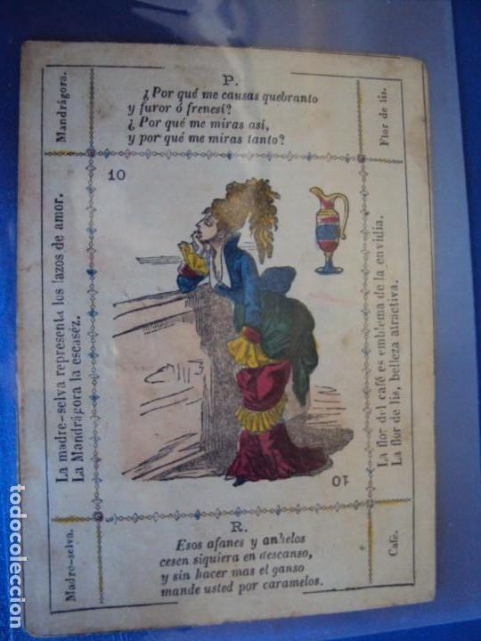 Barajas de cartas: (BA-190501)BARAJA DE LOS ENAMORADOS. DEDICADA AL PRESTIDIGITADOR CATALÁN D. FRUCTUOSO CANONJE XIX - Foto 45 - 166542314