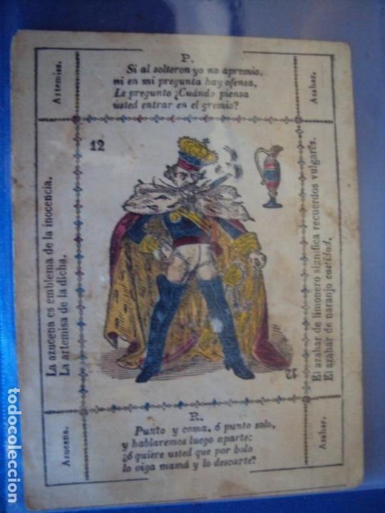 Barajas de cartas: (BA-190501)BARAJA DE LOS ENAMORADOS. DEDICADA AL PRESTIDIGITADOR CATALÁN D. FRUCTUOSO CANONJE XIX - Foto 49 - 166542314
