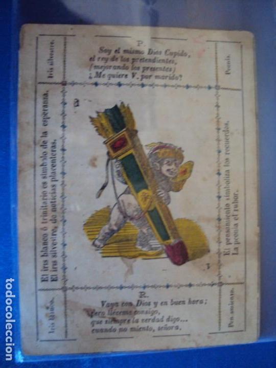 Barajas de cartas: (BA-190501)BARAJA DE LOS ENAMORADOS. DEDICADA AL PRESTIDIGITADOR CATALÁN D. FRUCTUOSO CANONJE XIX - Foto 51 - 166542314