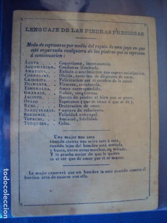 Barajas de cartas: (BA-190501)BARAJA DE LOS ENAMORADOS. DEDICADA AL PRESTIDIGITADOR CATALÁN D. FRUCTUOSO CANONJE XIX - Foto 54 - 166542314
