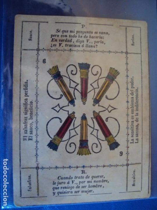 Barajas de cartas: (BA-190501)BARAJA DE LOS ENAMORADOS. DEDICADA AL PRESTIDIGITADOR CATALÁN D. FRUCTUOSO CANONJE XIX - Foto 61 - 166542314