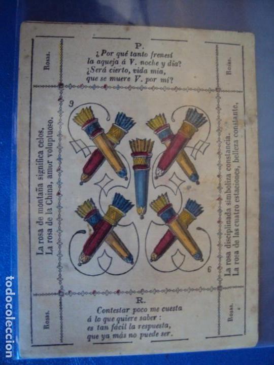 Barajas de cartas: (BA-190501)BARAJA DE LOS ENAMORADOS. DEDICADA AL PRESTIDIGITADOR CATALÁN D. FRUCTUOSO CANONJE XIX - Foto 67 - 166542314