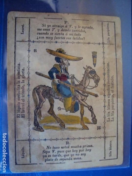 Barajas de cartas: (BA-190501)BARAJA DE LOS ENAMORADOS. DEDICADA AL PRESTIDIGITADOR CATALÁN D. FRUCTUOSO CANONJE XIX - Foto 71 - 166542314