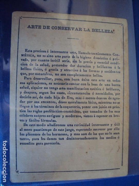 Barajas de cartas: (BA-190501)BARAJA DE LOS ENAMORADOS. DEDICADA AL PRESTIDIGITADOR CATALÁN D. FRUCTUOSO CANONJE XIX - Foto 76 - 166542314