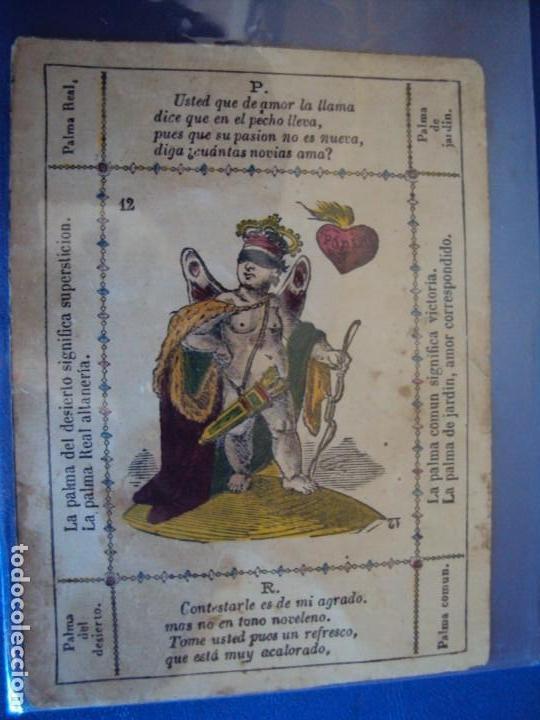 Barajas de cartas: (BA-190501)BARAJA DE LOS ENAMORADOS. DEDICADA AL PRESTIDIGITADOR CATALÁN D. FRUCTUOSO CANONJE XIX - Foto 93 - 166542314