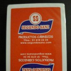 Barajas de cartas: 1 BARAJA DE H. FOURNIER ** SEGUNDO SANZ . PRODUCTOS CARNICOS ** PRECINTADO . Lote 166688802