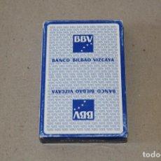 Barajas de cartas: BARAJA CARTAS HERACLIO FOURNIER: BANCO BILBAO VIZCAYA - 50 NAIPES - NUEVA SIN USO. Lote 166715602