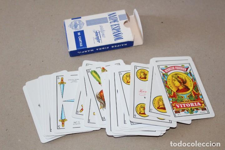 Barajas de cartas: BARAJA CARTAS HERACLIO FOURNIER: BANCO BILBAO VIZCAYA - 50 NAIPES - NUEVA SIN USO - Foto 3 - 166715602