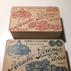 Barajas de cartas: LOTE DE DOS BARAJAS DE NAIPES ANTIGUOS. Lote 166729450