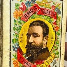 Barajas de cartas: BARAJA DE CARTAS HERACLIO FOURNIER 1ª CLASE AÑO 1890 1900 - COMPLETA Y EN BUEN ESTADO . Lote 166733138