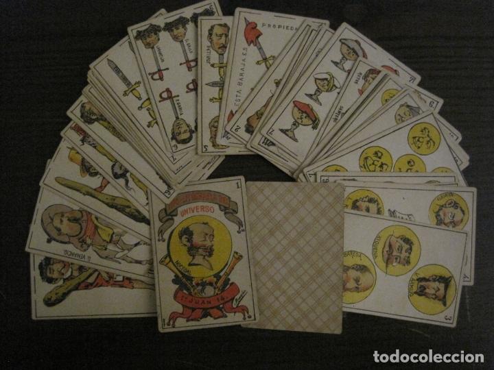 Barajas de cartas: BARAJA CARTAS ANTIGUA-TIPO LITOGRAFIA DEL UNIVERSO-CARLISMO-COMPLETA 40 CARTAS-VER FOTOS-(V-17.279) - Foto 2 - 166821042