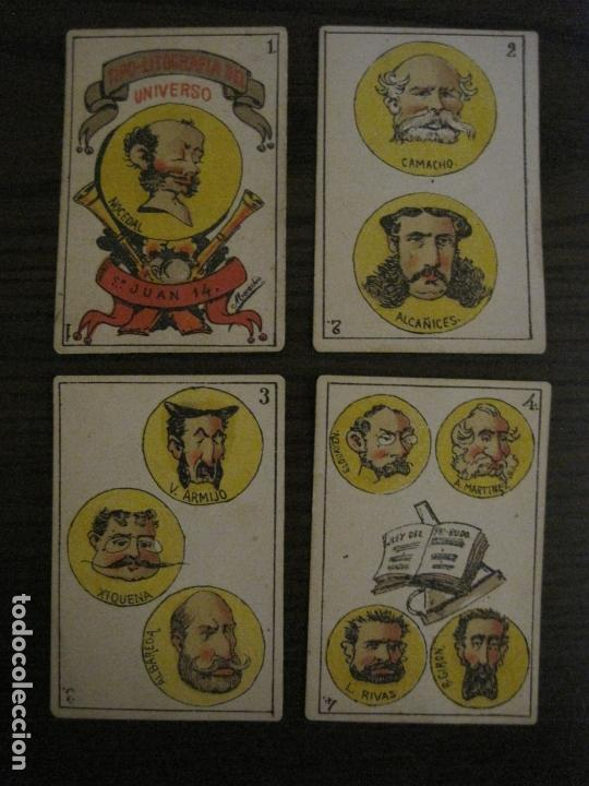 Barajas de cartas: BARAJA CARTAS ANTIGUA-TIPO LITOGRAFIA DEL UNIVERSO-CARLISMO-COMPLETA 40 CARTAS-VER FOTOS-(V-17.279) - Foto 3 - 166821042