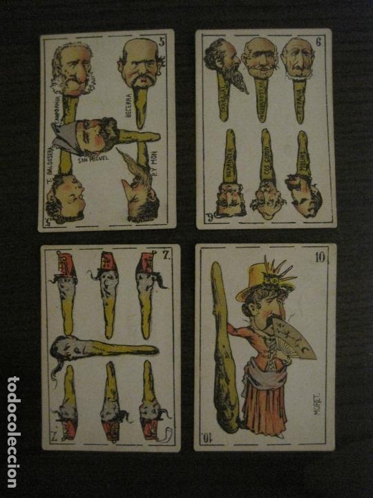 Barajas de cartas: BARAJA CARTAS ANTIGUA-TIPO LITOGRAFIA DEL UNIVERSO-CARLISMO-COMPLETA 40 CARTAS-VER FOTOS-(V-17.279) - Foto 26 - 166821042