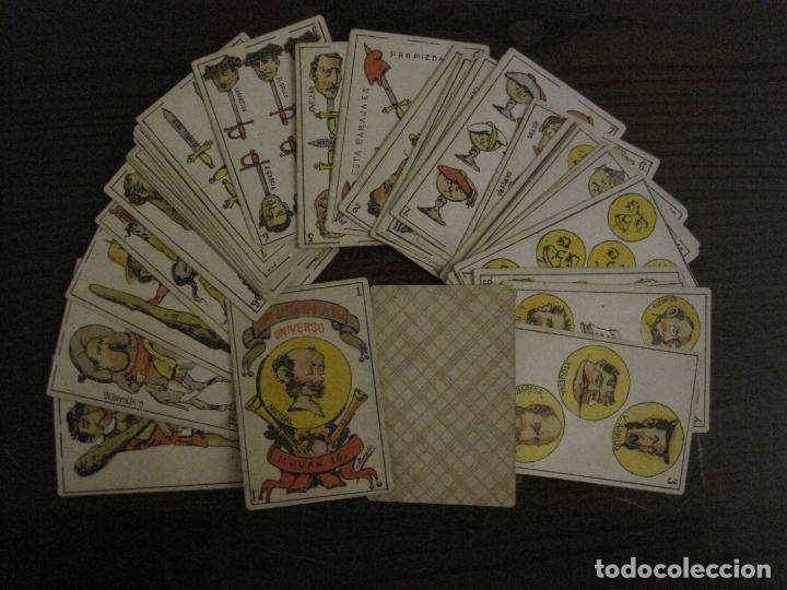 BARAJA CARTAS ANTIGUA-TIPO LITOGRAFIA DEL UNIVERSO-CARLISMO-COMPLETA 40 CARTAS-VER FOTOS-(V-17.279) (Juguetes y Juegos - Cartas y Naipes - Baraja Española)