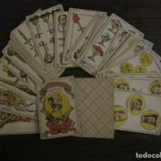 Barajas de cartas: BARAJA CARTAS ANTIGUA-TIPO LITOGRAFIA DEL UNIVERSO-CARLISMO-COMPLETA 40 CARTAS-VER FOTOS-(CR-1020). Lote 166821042