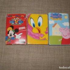 Barajas de cartas: LOTE BARAJAS CARTAS INFANTILES DISNEY WARNER PEPPA PIG VER. Lote 166993520