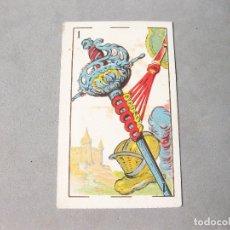 Barajas de cartas: CARTA DE LA BARAJA DON QUIJOTE DE 48 CARTAS CON PUBLICIDAD DE CHOCOLATES NTRA. SRA. DE LAS CANDELAS. Lote 167012976
