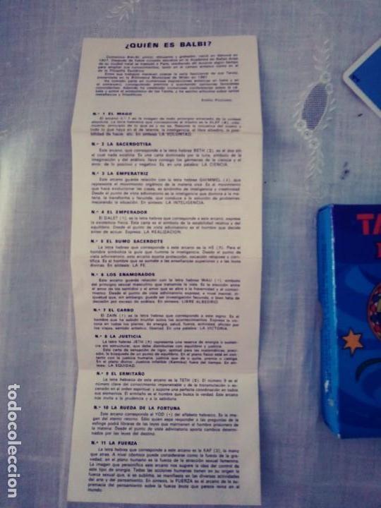 Barajas de cartas: Tarot Balbi - Foto 3 - 167166432