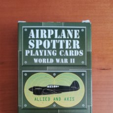 Jeux de cartes: BARAJA AIRPLANE SPOTTER PLAYING CARDS WORLD WAR II ALLIED AND AXIS - PÓKER. Lote 167181288
