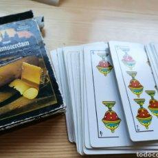 Barajas de cartas: BARAJA DE CARTAS ESPAÑOLA ANTIGUA. QUESO OLD AMSTERDAM. Lote 167689830