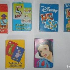 Barajas de cartas: LOTE 6 BARAJAS INFANTILES. Lote 167778332