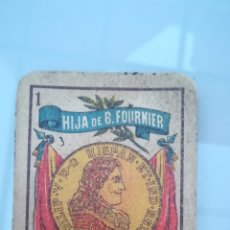 Barajas de cartas: RESTOS DE BARAJA ESPAÑOLA HIJA DE B. FOURNIER. Lote 167912614