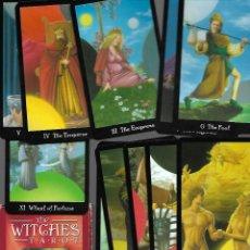 Barajas de cartas: BARAJA DE TAROT WITCHES NUEVA PERFECTA CON 68 CARTAS CAJA Y LIBRO. Lote 167969808
