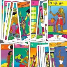 Barajas de cartas: BARAJA DE TAROT EGIPCIA PERFECTO ESTADO CON 59 CARTAS TODAS CON TITULO. Lote 167970932
