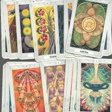 Barajas de cartas: CARTAS DE BARAJA DE TAROT 62 CARTAS EN BUEN ESTADO. Lote 167972396