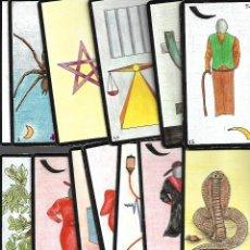 Barajas de cartas: CARTAS DE BARAJA DE TAROT 41 ORACULO CARTAS EN BUEN ESTADO. Lote 167976776
