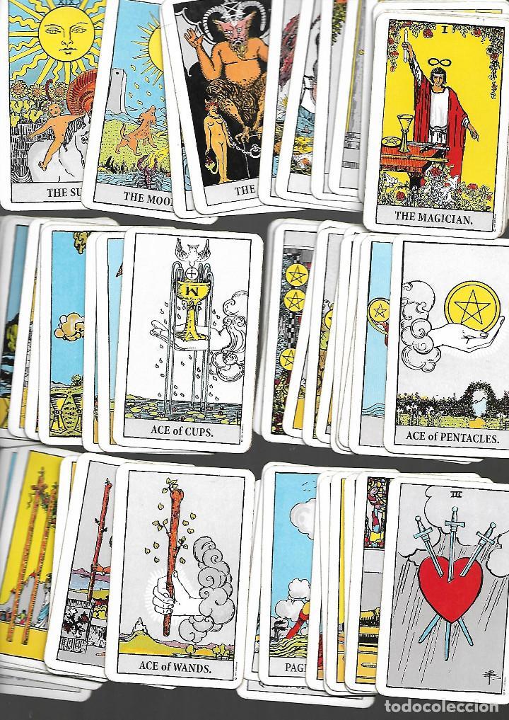 CARTAS DE PEQUEÑA BARAJA DE TAROT 58 CARTAS EN BUEN ESTADO (Juguetes y Juegos - Cartas y Naipes - Barajas Tarot)