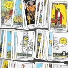 Barajas de cartas: CARTAS DE PEQUEÑA BARAJA DE TAROT 58 CARTAS EN BUEN ESTADO. Lote 167980784