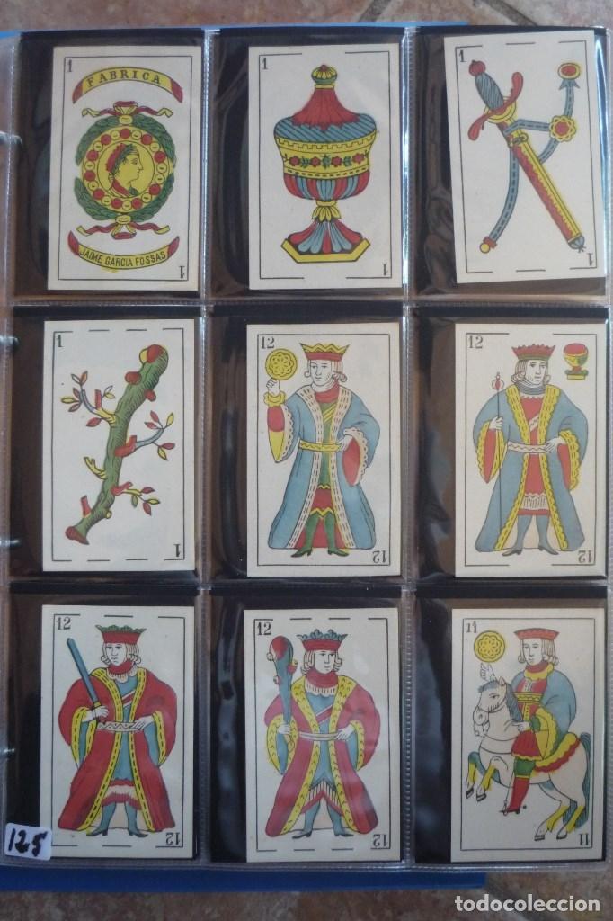 BARAJA SIGLO XIX. JAIME GARCÍA FOSSAS-IGUALADA. 48 CARTAS. LEON Y SOL EN 4 DE COPAS. TIMBRE EN..... (Juguetes y Juegos - Cartas y Naipes - Baraja Española)