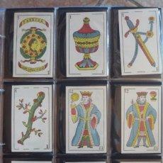 Barajas de cartas: BARAJA SIGLO XIX. JAIME GARCÍA FOSSAS-IGUALADA. 48 CARTAS. LEON Y SOL EN 4 DE COPAS. TIMBRE EN...... Lote 168157980