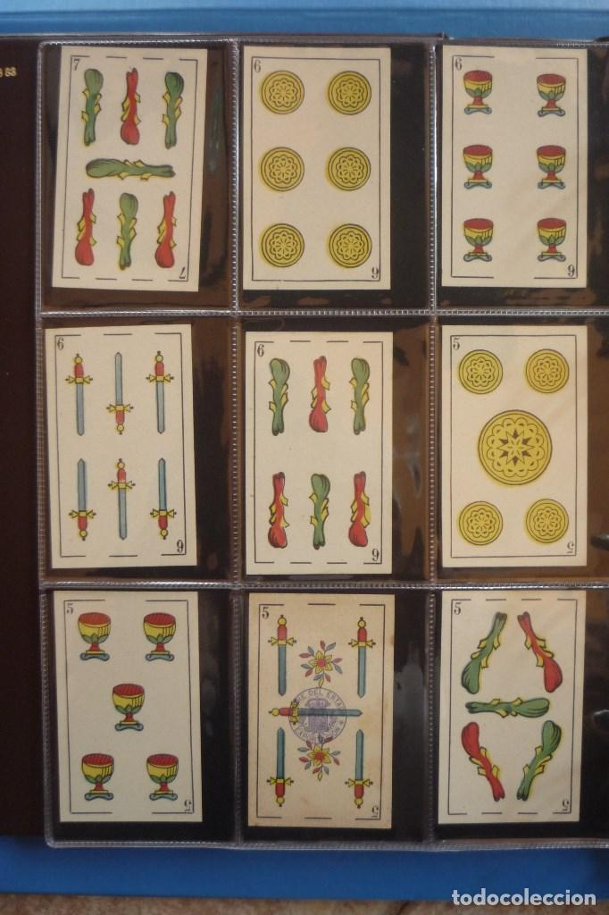 Barajas de cartas: BARAJA SIGLO XIX. JAIME GARCÍA FOSSAS-IGUALADA. 48 CARTAS. LEON Y SOL EN 4 DE COPAS. TIMBRE EN..... - Foto 4 - 168157980