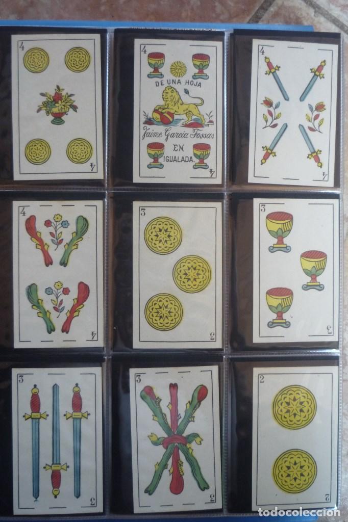 Barajas de cartas: BARAJA SIGLO XIX. JAIME GARCÍA FOSSAS-IGUALADA. 48 CARTAS. LEON Y SOL EN 4 DE COPAS. TIMBRE EN..... - Foto 5 - 168157980